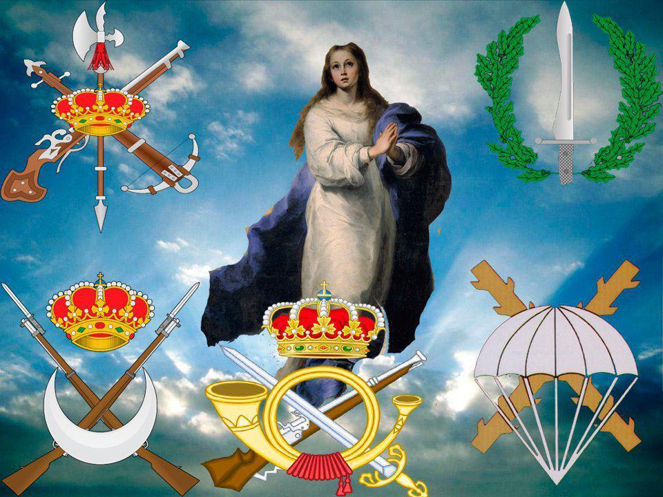 Festividad de la Inmaculada. Patrona de la Infantería  Española.